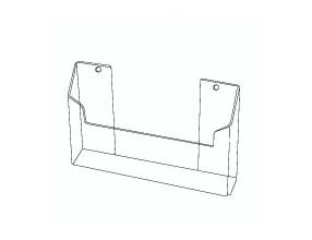 Porte-brochure suspendue horizontale KW3