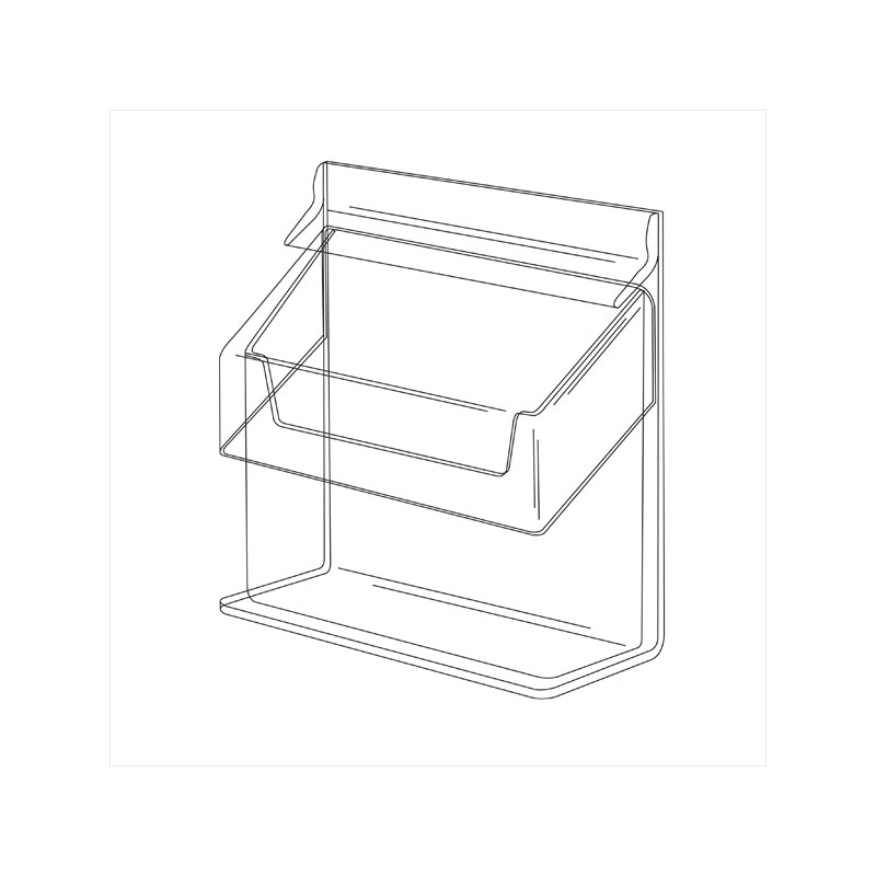 visitenkartenbox mit deckel kw6 z plexi. Black Bedroom Furniture Sets. Home Design Ideas