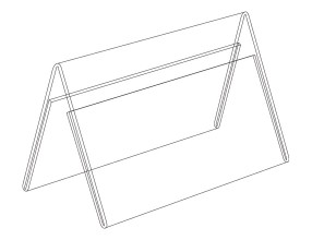 Acrylic A stand horisontal P1