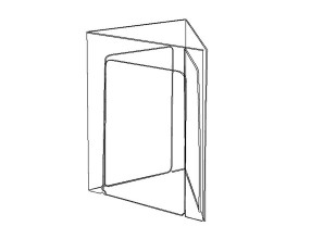 Triangular acrylic stand P13