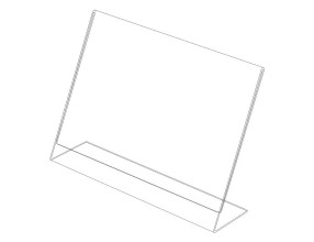 Acrylic L stand – horizontal P6