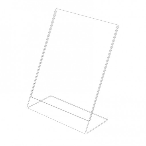 Acrylic L stand – vertical P6