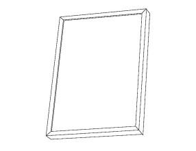 Ramka na zdjęcia z profili aluminiowych R3